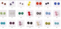 Wholesale Disco Ball Crystal Beads White - 2017 new Fashion girl   lady shiny Earrings 50pairs=100pcs 10mm Crystal Rhinestone Disco Pave Ball Beads Earring