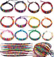 Wholesale Green Friendship - 20pcs Fashion New 12colors Wholesale Lots Beads Braid Handmade Fashion Friendship Bracelets Women CHarm Jewelry [B606M*20]