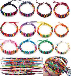 Wholesale White Braided Rope Bracelets - 20pcs Fashion New 12colors Wholesale Lots Beads Braid Handmade Fashion Friendship Bracelets Women CHarm Jewelry [B606M*20]