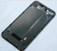 iphone beyaz 4g toptan satış-Cam Arka Pil Kapağı iphone 4 4g BEYAZ SIYAH Konut Meclisi 100 adet ücretsiz kargo