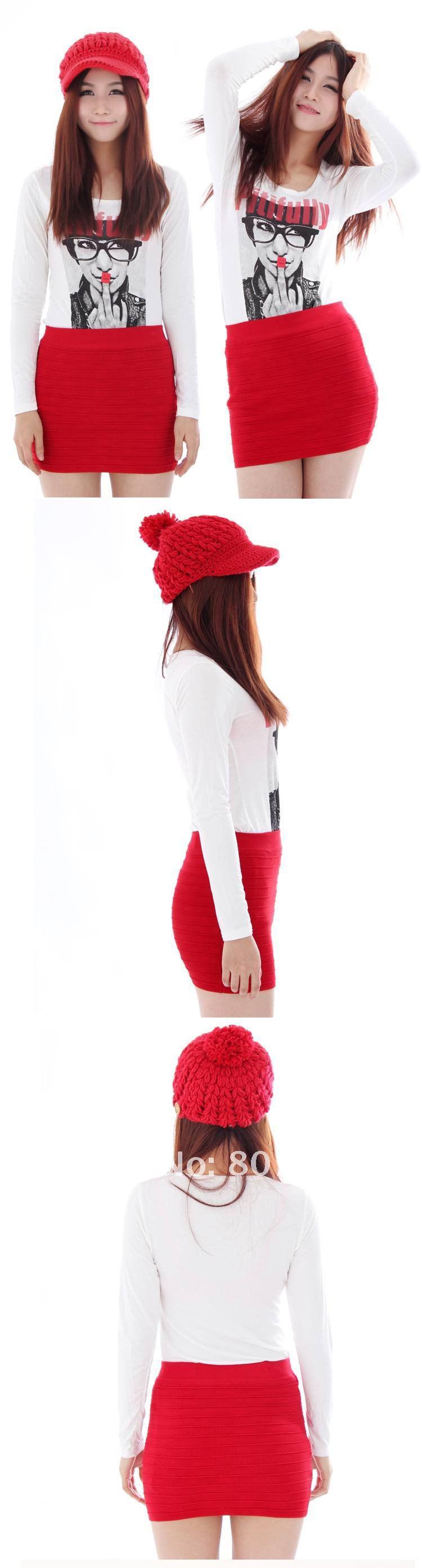 Skirts Wholesaler Edress Sells Women Red/Orange/Green Mini Skirt ...
