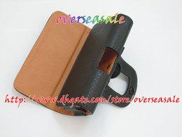 Wholesale Soft Pouch Iphone 3g - Soft PU leather case cover pouch pouches holster belt clips Clip for iphone 4 4G 4S 3 3G 3GS 200pcs