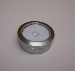 $enCountryForm.capitalKeyWord Canada - Wholesale Circle Round Diamond Display Box Fine Stainless Steel Metal gemstone Cases Diamond Jewelry Box 3.2*1.5(cm)