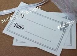 LIVRAISON GRATUITE * / EXQUISITE CRISTAUX BLANC BANDER PLACTURE Porte-cartes Porte-cartes de mariage