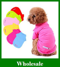 Wholesale Cheap Free Dog Clothes - Cheap Dog T Shirts Pet Puppy Clothes 9 color Cotton Coat clothing Size XS S M L gifts Free Shipping