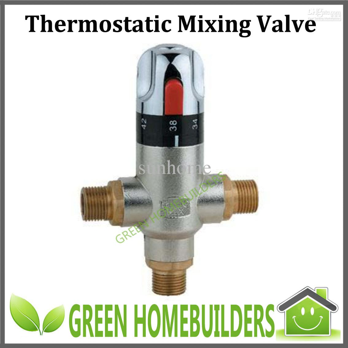 U Type Chrome Electric Water Heater Mixing Valve Single: 2019 G1/2 Thermostatic Mixing Valve Gravity Die Casting