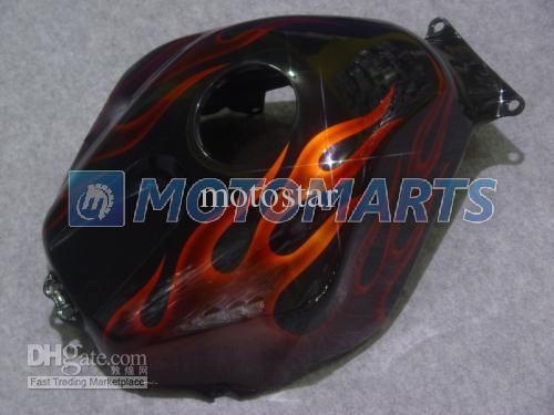 Custom orange Flamme in schwarz Einspritzverkleidungssatz FÜR CBR600RR F5 2005 2006 CBR 600 RR 05 06 CBR600 600RR Verkleidungssatz