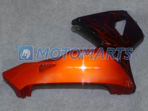 Flamme orange personnalisée en noir Kit de carénage injecté POUR CBR600RR F5 2005 2006 CBR 600 RR 05 06 Kit de carénages CBR600 600RR