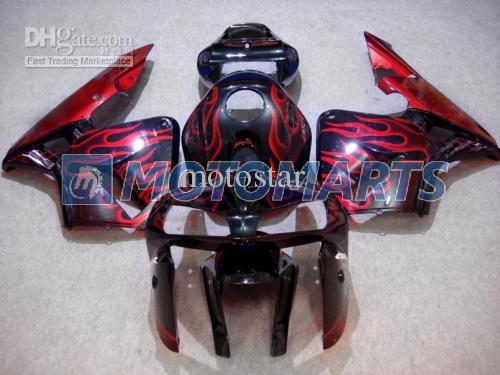 Kit flamme rouge en carénage noir POUR CBR600RR F5 2005 2006 CBR 600 RR 05 06 CBR600 600RR