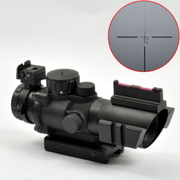 Wholesale Snipers Rifle Scope - Sniper 4X32 Red Green Blue Illuminated Reticle Scope Black