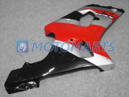 레드 실버 BLK 페어링 키트 GSXR 600 750 K1 2001 2002 2003 GSXR600 GSXR750 01 02 03 R600 R750