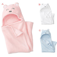 Wholesale Baby Swaddle Fleece - Coral fleece The baby was Velvety soft Baby swaddling Cute bear modell Baby blanket 3 color