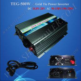 Wholesale Solar Wind Power Inverter - Wholesale - 500W grid tie power inverter,DC 12v 24v 10.8v-30v to AC 240v,solar panels wind