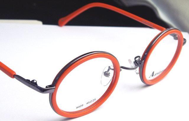 App.Round Eyeglass Frames Vintage Orange Eyewear Optical Brand New ...