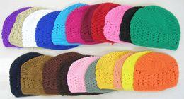 Wholesale Skull Women Big Size - 100% cotton Crochet Kufi Hat Women Warm Knitted Winter hats Ski beanie cap Gorro Big Size Kufi Caps