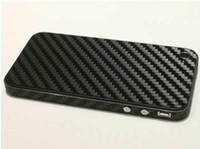 Wholesale Iphone 4s Vinyl Skin - 2012 Fashion Carbon Fiber Vinyl Skin Full Body Stickers cover Guard by Dhl For IPHONE 4 4G 4S