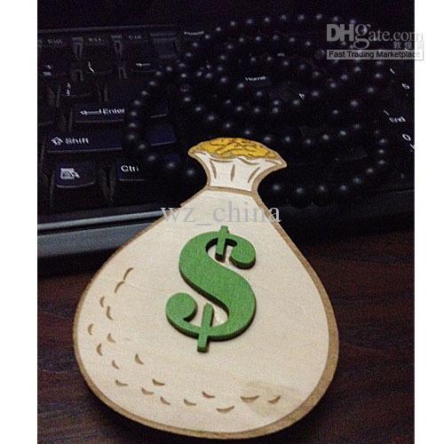 Sac d'argent GOODWOOD collier pendentif bon perles en bois chapelet chaîne collier
