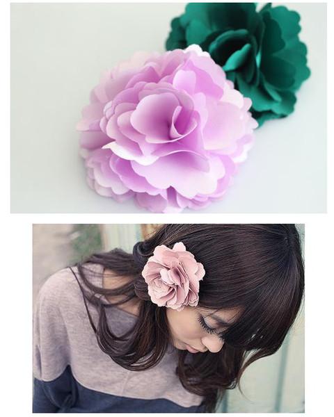 50pcs/lot Lovely corsage flower lady hairpin head flower brooch multi-purpose, dandys