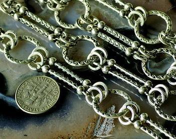 Wholesale-- Antikes Silber überzogene Metalltibetanische Art-Kette 3feet /