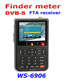 Wholesale Dvb Meter - SATLINK WS-6906 digital satellite reciever finder meter DVB-S FTA reciever with 3.5 '' LCD screen