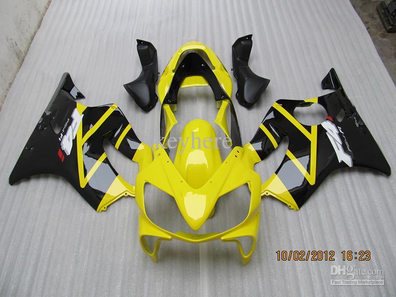 혼다 용 오토바이 페어링 2001 2002 2003 CBR600 F4I 01-03 YELLOW FAIRINGs, 커스터마이징 가능