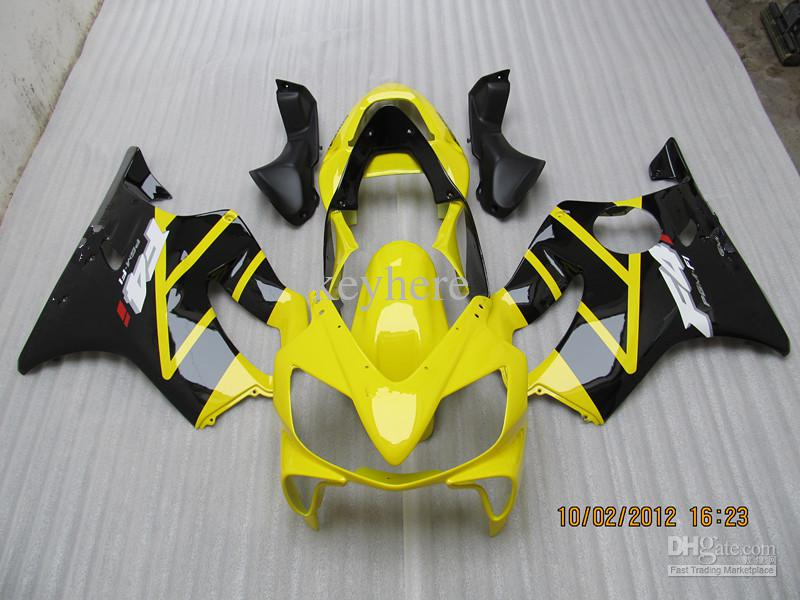 ABS Motorcycle fairing for honda 2001 2002 2003 CBR600 F4I 01-03 YELLOW FAIRINGs,could customize