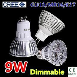 Wholesale 24v Mr16 Dimmable Led Lamp - 60pcs lot High power led lamp 9W 12W 15W GU10 MR16 E27 E14 GU5.3 Led Light Dimmable Led Spotlight Bulbs Free DHL