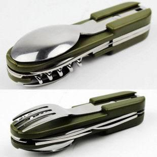 Army Style Knife Fork Opener Spoon Bottle Opener Cutting