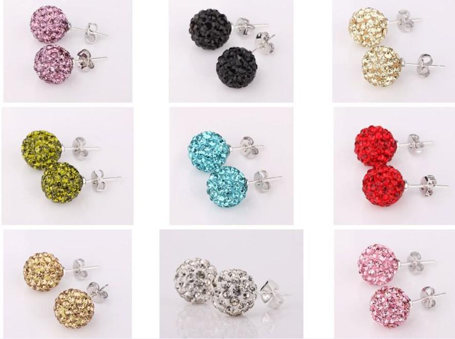 Hot Sale 10mm Stud Earrings New Style Disco Ball Clay Ball Cz ...