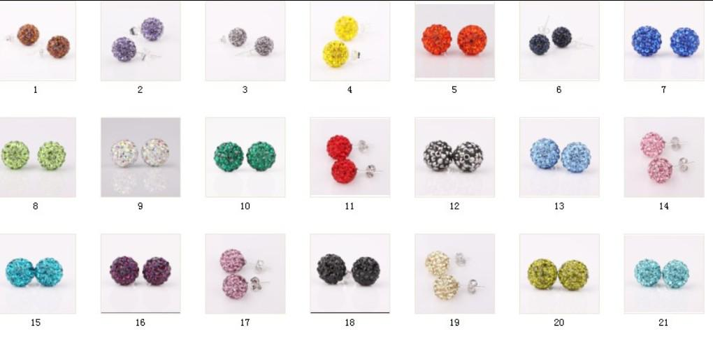 2018 Best Match 10mm Stud Earrings New Style Disco Ball Clay Ball ...
