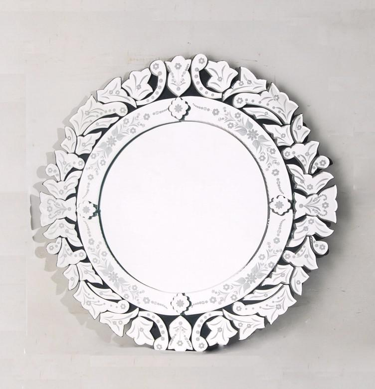 mr glass round wall mirror with etched flowers mirror art mirror bathroom from rachel5818 dhgatecom