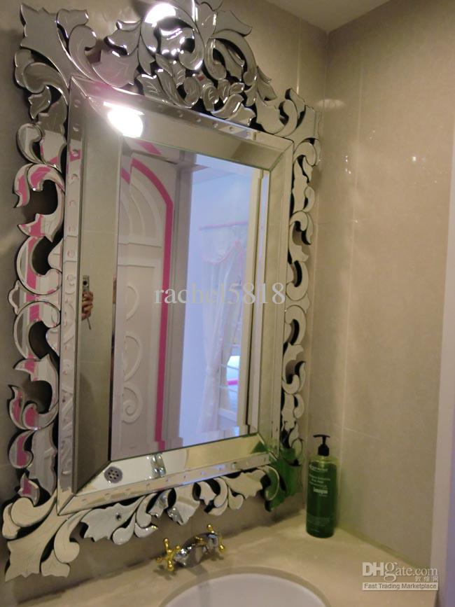 MR 201119 Glass Venetian Bathroom Wall Mirror Large Framed Mirror Large  Framed Mirrors From Rachel5818, $94.98| DHgate.Com