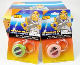 Wholesale Electric Shocking Hand Buzzer - New Novelty Best Electric Shock Hand Buzzer Practical Joke Gag Prank Halloween Christmas Gift