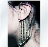 Wholesale Skull Earrings Tassel - Newest Skull Ear Cuff Earrings Tassel Ear Cuff Earring 6Pairs Lot FREE SHIPPING