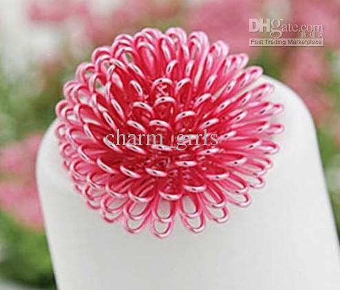 최저 가격 혼합 색상 화려한 민들레 꽃 반지 크기를 조정하는 자유 100pcs / lot