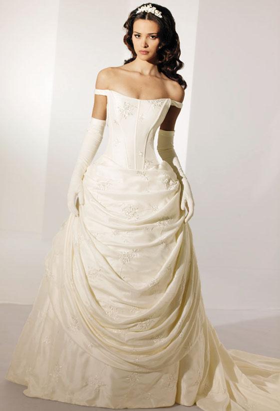 Discount Fashion A Line Wedding Dress Off The Shoulder