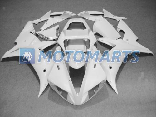 Kit de carénage tout blanc pour bricolage POUR YZF R1 2002 2003 YZF1000 02 03 YZFR1 1000 YZF-R1 02-03