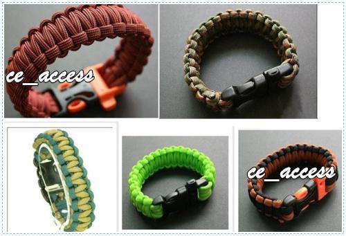 Utomhusarmband Plast Böjd Buckle 7 Strand Paracord Armband Survival Armband från CE_ACCESS