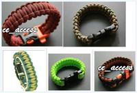Outdoor Bracelets plastic curved buckle 7 strand paracord bracelet survival bracelet from ce_access