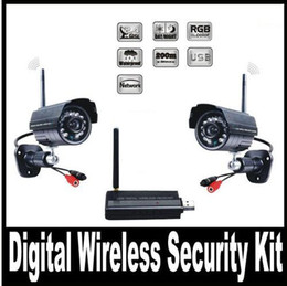 Wholesale Usb Wireless Cctv Camera System - Digital Wireless Video Camera USB Receiver DVR Home Security CCTV System Kit