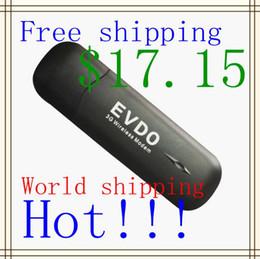 Wholesale 3g Modem Free Shipping - Free shipping USB 3g EVDO modem unlocked CDMA modem 2.4Mb download speed .
