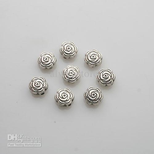 50 adet Tibet Silve çiçek Spacer boncuk Bulguları X0080