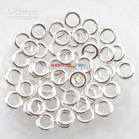 Wholesale Silver Close Jump Rings - 400x Silver Plated Soldered Closed Jump Rings 8mm G105