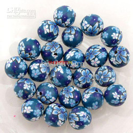 Wholesale Clay Beads Fimo Round - 200 Flower Fimo Polymer Clay Beads F Bracelet 10MM B492