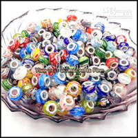 Wholesale Murano Lampwork loose Beads Fit Charms Jewelry New Mixed P053110