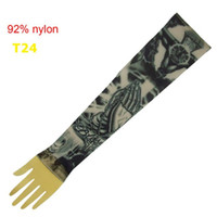 Wholesale Sleeve Ideas - 10x Popular Sleeves for Tattoo Ideas Fashional Arm Sleeve New Designs Sleeves Fake Tattoo Apparel T24
