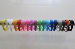 Оптовые 100pcs / lot - балансировочные браслеты силиконового браслета с последними розничными упаковками