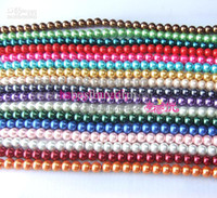 Wholesale Mixed Glass Pearls 8mm - 1200x New Round Glass Pearl Beads 8mm 10mm 12mm u pick Mixed colors or single color