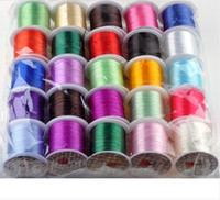 Wholesale Cord Necklace 25 - 25 Roll Elastic Stretch Cord Thread Spool For Bracelets Necklace Jewelry Making 12m