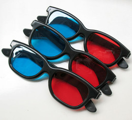 Wholesale Red Cyan D Glasses - 5Pcs lot New Red Blue Cyan 3D Glasses 3 D Dimensional, Free shipping,Drop ship
